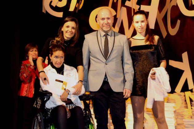 42è Premi Vila de Martorell. Noe Gaya i familiars, amb Sergi Corral